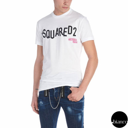 D SQUARED2 Crew Neck Crew Neck Street Style Plain Cotton Short Sleeves 5