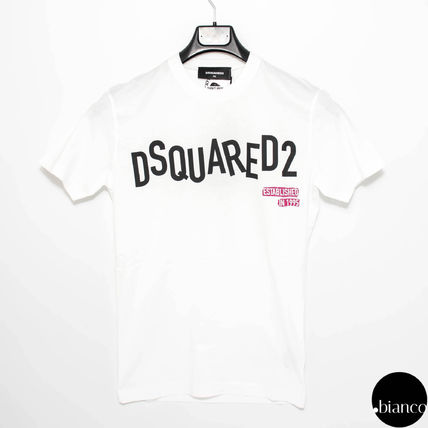 D SQUARED2 Crew Neck Crew Neck Street Style Plain Cotton Short Sleeves 6
