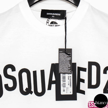 D SQUARED2 Crew Neck Crew Neck Street Style Plain Cotton Short Sleeves 9