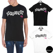 D SQUARED2 Crew Neck Street Style Plain Cotton Short Sleeves
