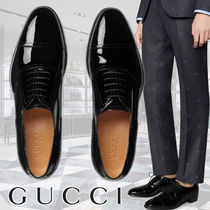 GUCCI Plain Toe Loafers Street Style Plain Leather