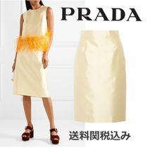PRADA Wool Medium Elegant Style Midi Skirts