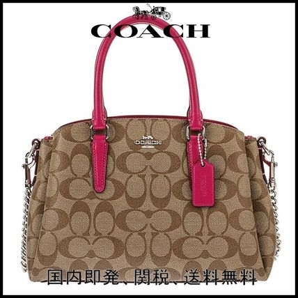 Casual Style 2WAY PVC Clothing Handbags