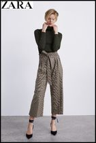 ZARA Other Check Patterns Elegant Style Culottes & Gaucho Pants