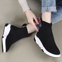 Wedge Round Toe Casual Style Street Style Plain Wedge Boots