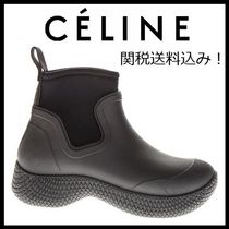CELINE Rubber Sole Casual Style Plain Ankle & Booties Boots