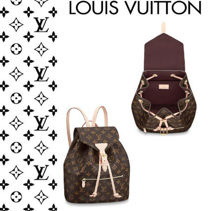 ... Louis Vuitton Backpacks Monogram Casual Style Canvas 2WAY Purses  Backpacks ... 9b82315866
