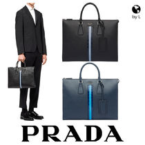 PRADA Saffiano A4 Other Animal Patterns Business & Briefcases