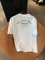 Christian Dior Crew Neck Street Style Plain Cotton Short Sleeves
