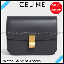 CELINE Classic Blended Fabrics 2WAY Plain Leather Elegant Style