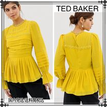 TED BAKER Casual Style Long Sleeves Plain Shirts & Blouses
