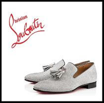Christian Louboutin Loafers Street Style Plain Leather Loafers & Slip-ons
