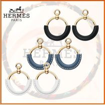 HERMES Blended Fabrics Elegant Style Earrings & Piercings