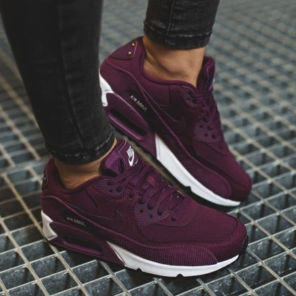 7eede8a5866f Nike AIR MAX 90 2018-19AW Casual Style Street Style Leather Low-Top ...