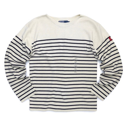 Stripes Neck Lauren Sleeves Cashmere Boat Polo Long Street Ralph Style 5AR4L3jq