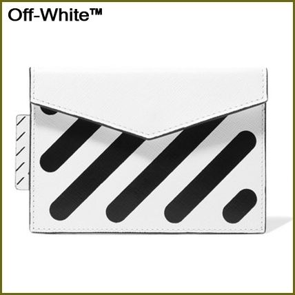 Stripes Leather Card Holders