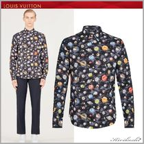 Louis Vuitton Star Street Style Long Sleeves Cotton Shirts