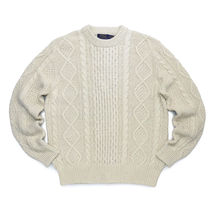 POLO RALPH LAUREN Crew Neck Cable Knit Street Style Long Sleeves Cotton