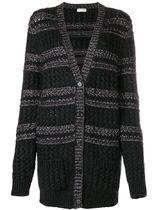 Saint Laurent Cable Knit Wool Long Sleeves Plain Long Elegant Style