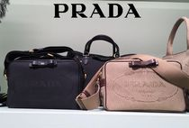 PRADA Casual Style Canvas Blended Fabrics Shoulder Bags