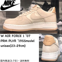 Nike AIR FORCE 1 Platform Casual Style Unisex Suede Blended Fabrics