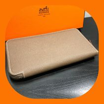 HERMES Silk In Unisex Leather Long Wallets