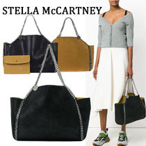 Stella McCartney FALABELLA Faux Fur Blended Fabrics Street Style A4 2WAY Chain Plain