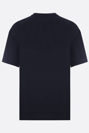 PRADA Crew Neck Crew Neck Plain Cotton Short Sleeves Crew Neck T-Shirts 2