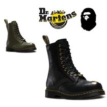 Dr Martens Casual Style Unisex Street Style Collaboration Leather