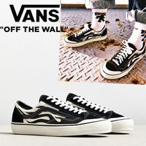 VANS Blended Fabrics Street Style Bi-color Plain Deck Shoes