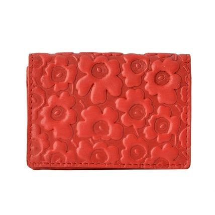 Flower Patterns Leather Card Holders