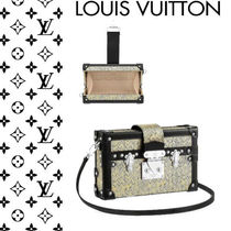 Louis Vuitton PETITE MALLE Blended Fabrics 2WAY Leather Shoulder Bags