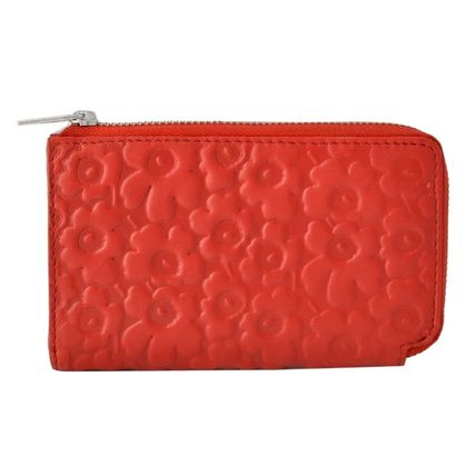 Flower Patterns Leather Coin Purses