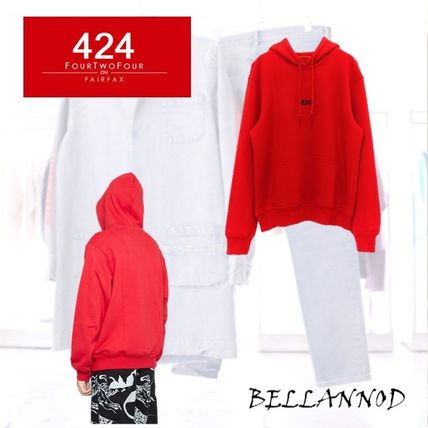 Pullovers Unisex Street Style Long Sleeves Plain Cotton