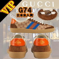 GUCCI Unisex Blended Fabrics Other Animal Patterns Sneakers