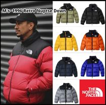 THE NORTH FACE Nuptse Short Unisex Street Style Khaki Down Jackets