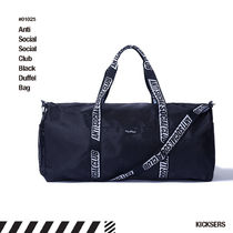 ANTI SOCIAL SOCIAL CLUB Unisex Street Style Boston Bags