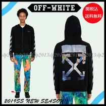 Off-White Pullovers Camouflage Blended Fabrics Cotton Hoodies