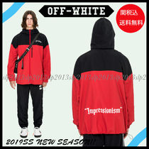 Off-White Short Unisex Blended Fabrics Plain Jackets