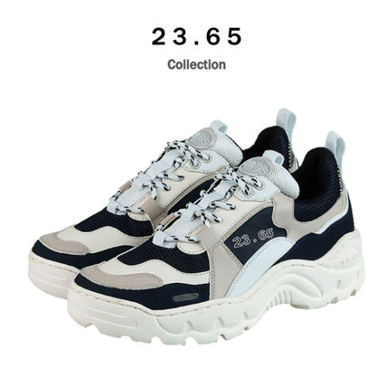 23.65 Sneakers Unisex Street Style Plain Leather Handmade Sneakers 14