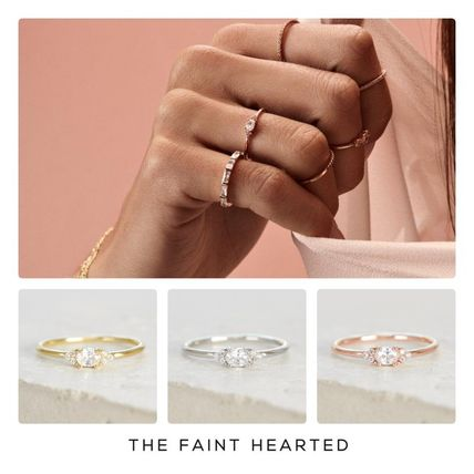 With Jewels 14K Gold Elegant Style Fine
