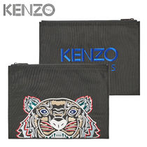 KENZO Nylon Other Animal Patterns Clutches