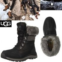 UGG Australia Mountain Boots Casual Style Plain Leather Outdoor Boots
