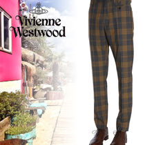 Vivienne Westwood Printed Pants Wool Patterned Pants