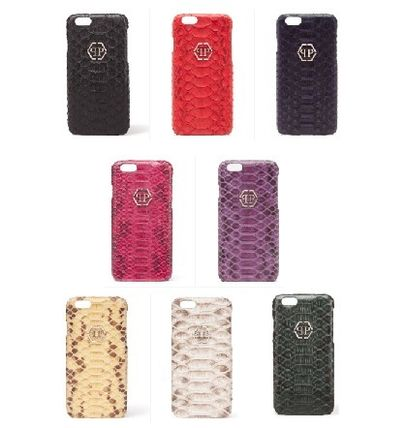 Skull Leather Python Smart Phone Cases