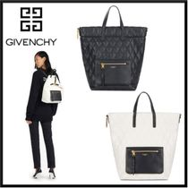 GIVENCHY Canvas 2WAY Plain Elegant Style Backpacks