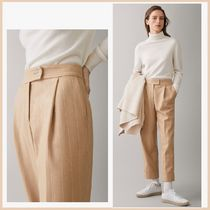 Massimo Dutti Stripes Casual Style Wool Cropped & Capris Pants