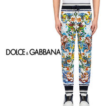 Dolce & Gabbana Printed Pants Tropical Patterns Street Style Patterned Pants