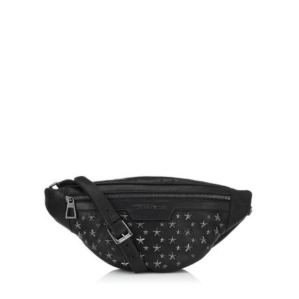 Star Unisex Studded Leather Hip Packs