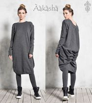 Aakasha Long Sleeves Plain Long Handmade Tunics